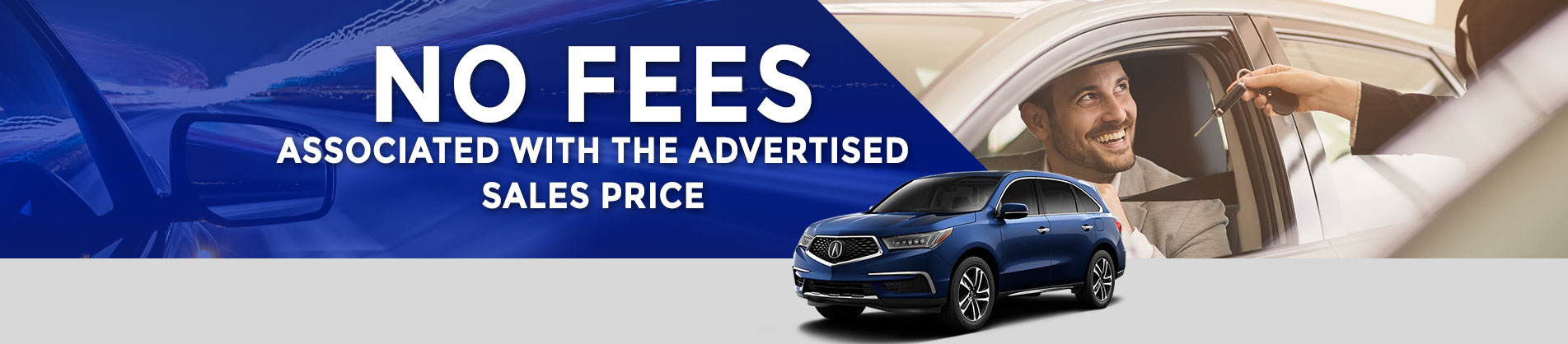 No fees associated with the advertised sales price